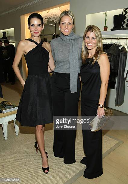 Angie Harmon Jamie Tisch and Lori Loughlin attend Hamish Bowles' book signing for Vogue Living at the Oscar de la Renta Home flagship store on...