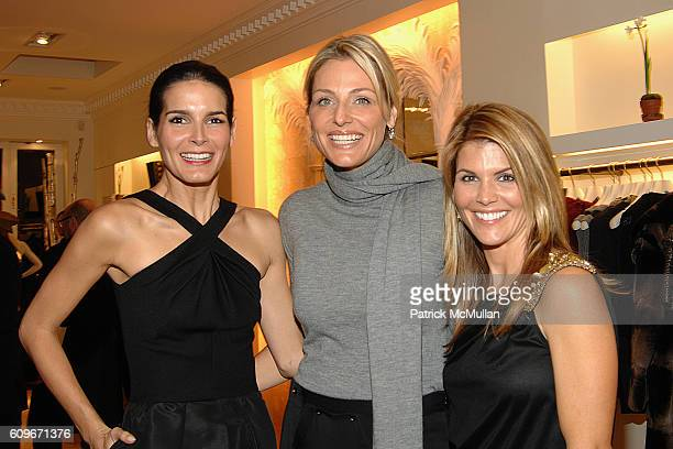 Angie Harmon Jamie Tisch and Lori Loughlin attend Oscar de la Renta Home Celebrates the Publication of VOGUE LIVING Houses Gardens People at Oscar de...