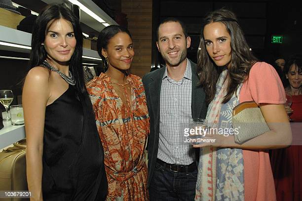 Angie Harmon Joy Bryant Blaine Zuckerman and Louise Roe at the Vogue and Step Up Women's Network fashion event at Bally on October 28 2008 in Beverly...