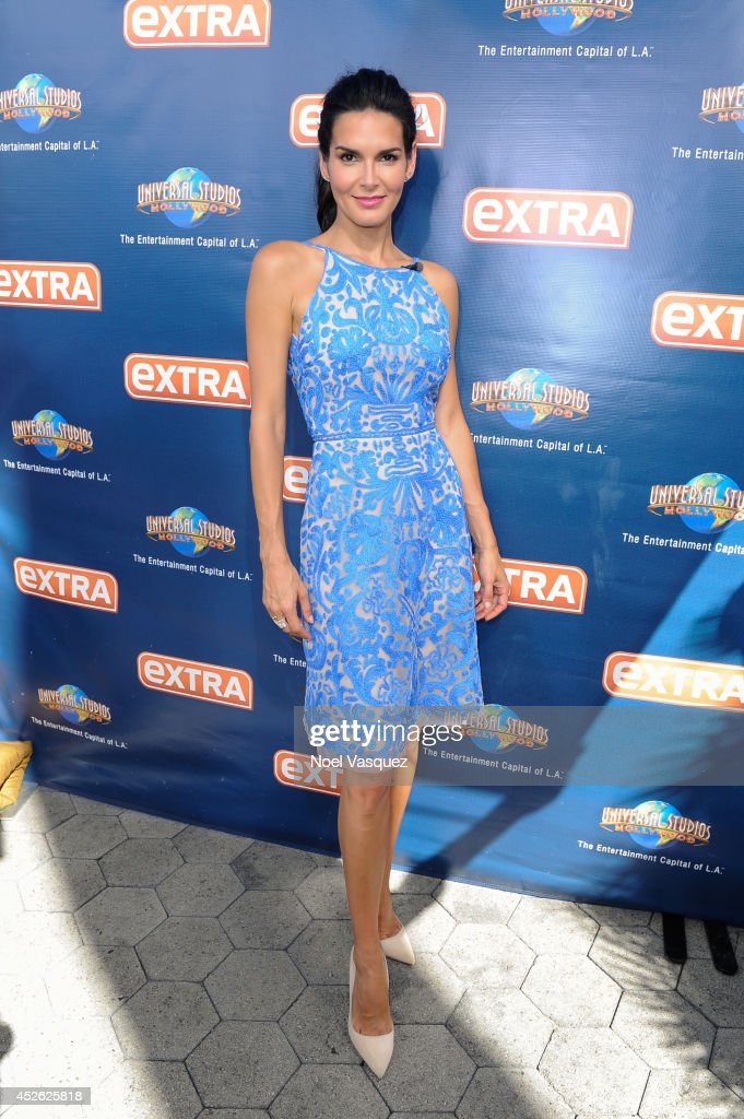 "Amy Purdy, Elizabeth Berkely, And Angie Harmon On ""Extra"""