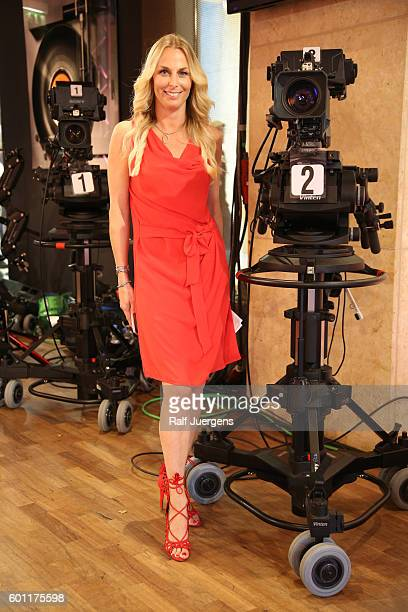 Angie Herzog attends a QVC event during the Vogue Fashion's Night Out on September 9 2016 in Berlin Germany