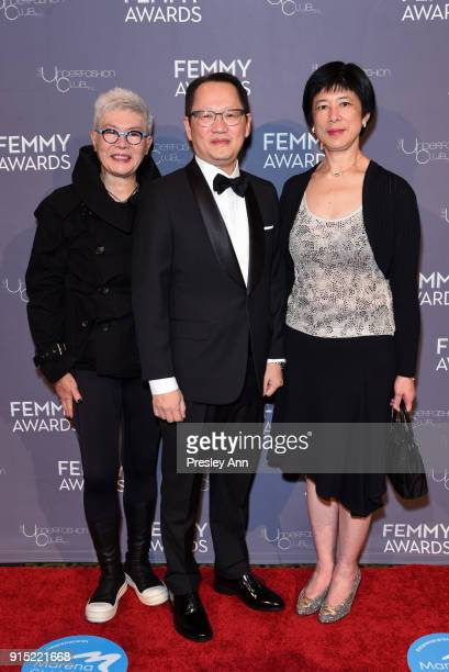 Angie Lau Tommy Fung and Emily Lau attend 2018 Femmy Awards hosted by Dita Von Teese on February 6 2018 in New York City