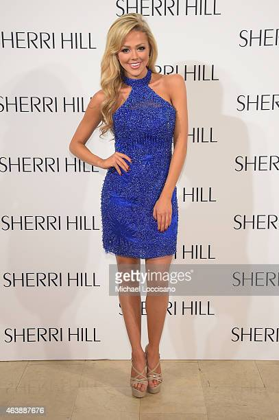 Angie Layton attends the Sherri Hill fashion show during MercedesBenz Fashion Week Fall 2015 at The Plaza on February 19 2015 in New York City