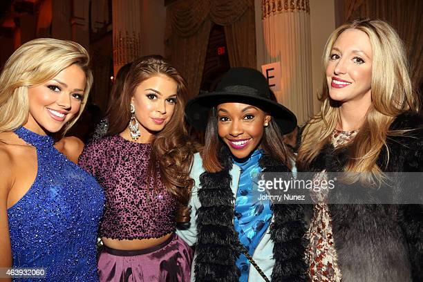 Angie Layton Summer Priester Candace Read and Jennifer Bradford attend the Sherri Hill fall 2015 fashion show at The Plaza Hotel on February 19 in...