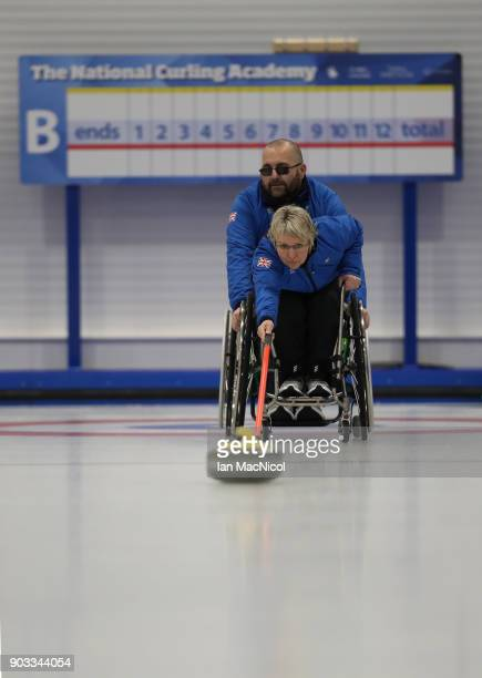 Angie Malone is seen at announcement of the ParalympicsGB Wheelchair Curling Team at The National Curling Centre on January 10 2018 in Stirling...