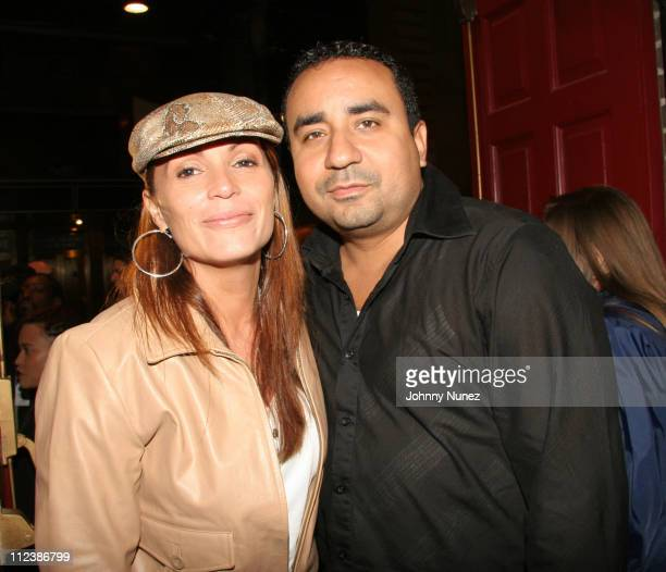 Angie Martinez and Big Dennis during Latinologues Broadway Opening Night at Helen Hayes Theatre in New York City New York United States