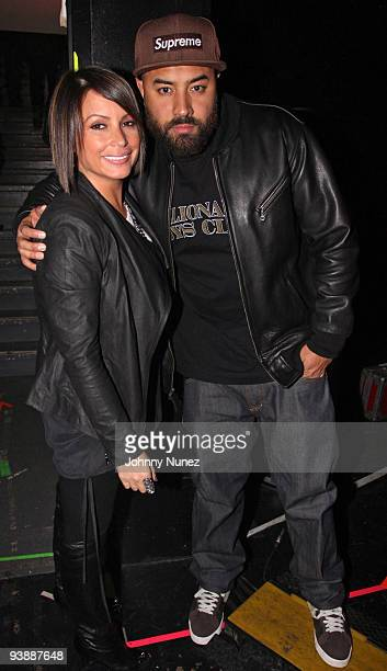Angie Martinez and Ebro attend the afterparty of Rihannas concert at Hammerstein Ballroom on December 3 2009 in New York City