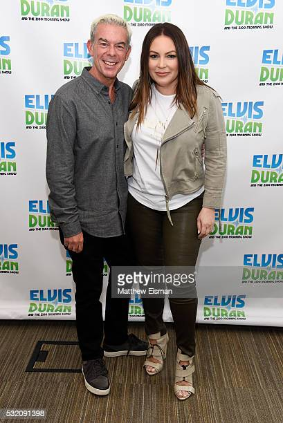 Angie Martinez and Elvis Duran visit The Elvis Duran Z100 Morning Show at Z100 Studio on May 18 2016 in New York City