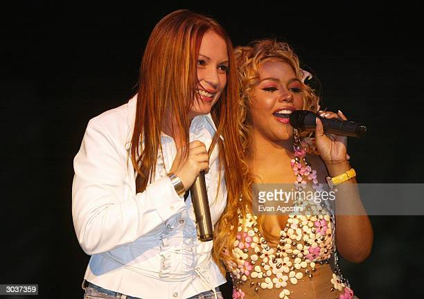 Angie Martinez and Hip-Hop artist Lil' Kim host Fuse and Hot 97's Full Frontal Hip-Hop fashion showcase at Webster Hall March 2, 2004 in New York...