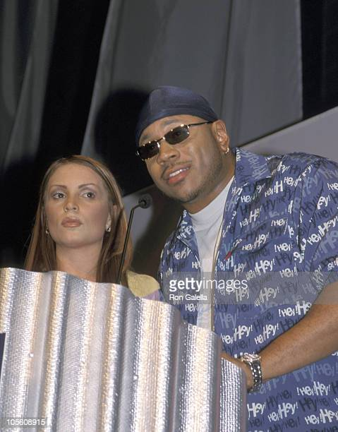 Angie Martinez and LL Cool J during 2000 Online HipHop Awards at Cipriani's in New York City New York United States