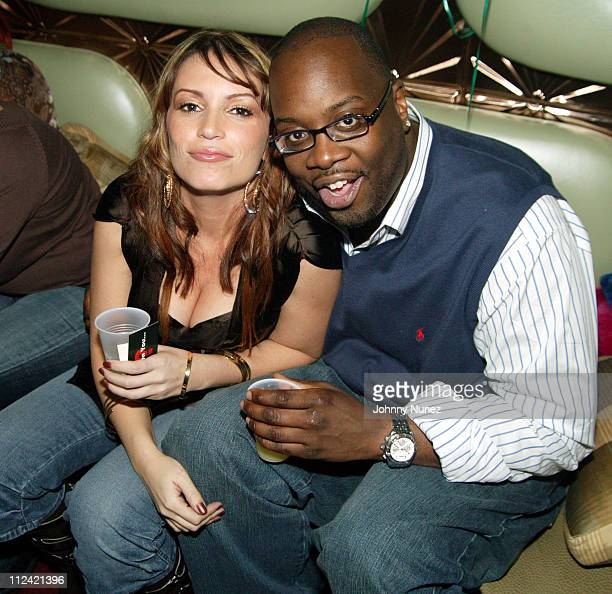 Angie Martinez and Mike Kyser during Angie Martinez's Birthday Party January 14 2005 at DEEP in New York City NY United States