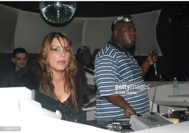 Angie Martinez and Mr Cee during Angie Martinez Birthday Party January 13 2005 at Deep in New York New York United States
