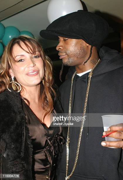 Angie Martinez and Mr Cheeks during Angie Martinez Birthday Party January 13 2005 at Deep in New York New York United States