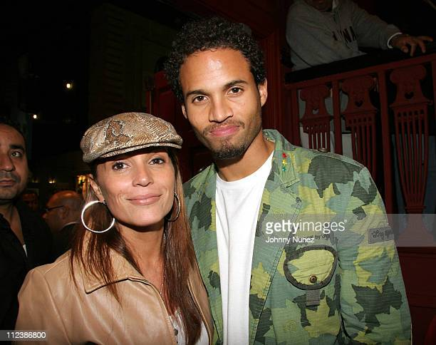 Angie Martinez and Quddus during 'Latinologues' Broadway Opening Night at Helen Hayes Theatre in New York City New York United States