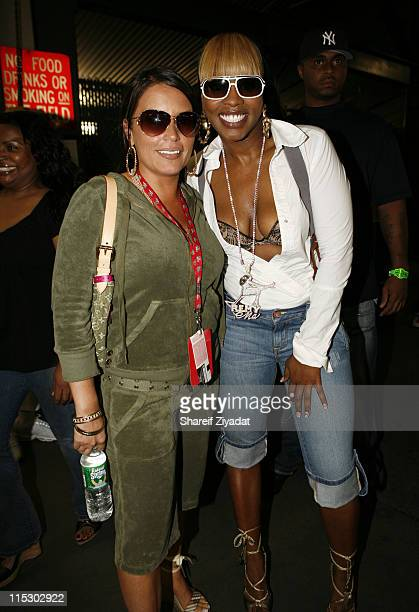 Angie Martinez and Remy Ma during HOT 97 Summer Jam 2006 at Giants Stadium in East Rutherford New Jersey United States