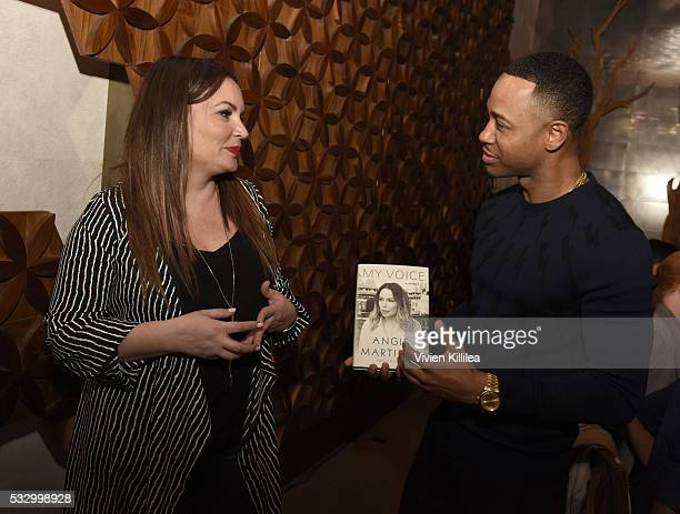 Angie Martinez and Terrence J attend D'USSE Dinner Series With Angie Martinez My Voice at BOA Steakhouse on May 19 2016 in West Hollywood California