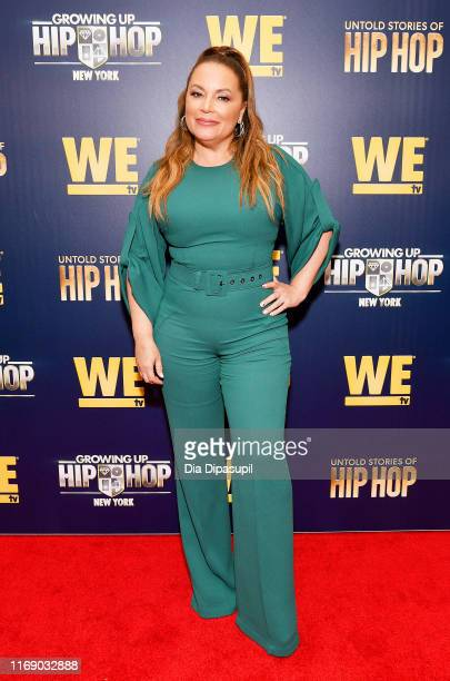 Angie Martinez attends as WEtv celebrates the premieres of Growing Up Hip Hop New York and Untold Stories of Hip Hop on August 19 2019 in New York...