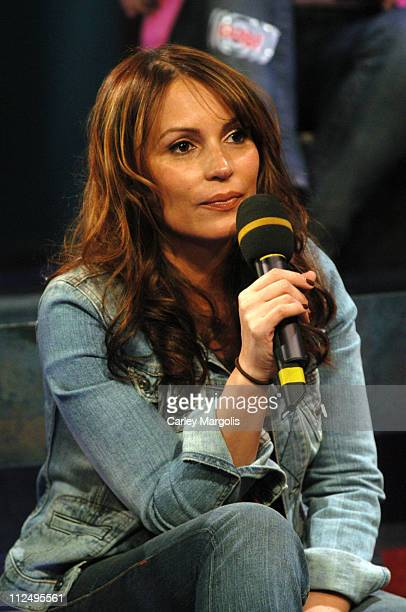 Angie Martinez during Angie Martinez Noreaga and Halifax Visit Fuse's Daily Download April 11 2005 at Fuse Studios in New York City New York United...