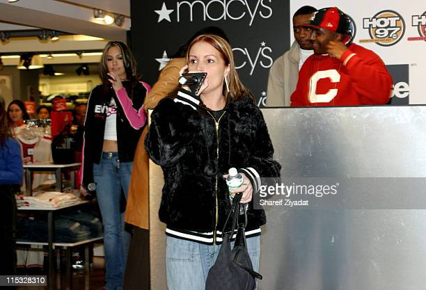 Angie Martinez during Hot 97/Fuse Fashion Promotion February 26 2004 at Macys Herald Square in New York City New York United States