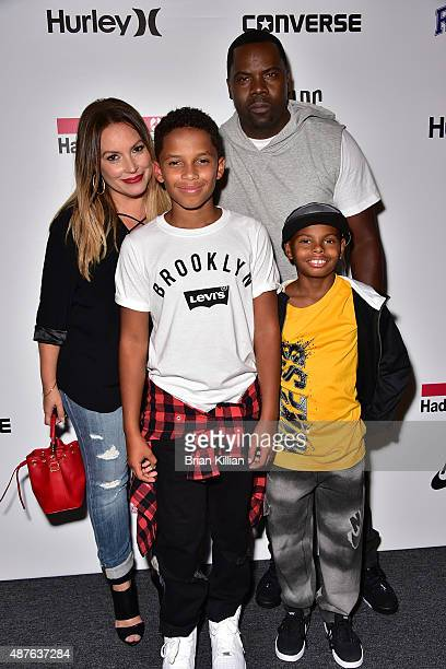 Angie Martinez Niko Martinez Oronde Garrett and Christian Garrett attend Kids Rock during New York Fashion Week at The Dock Skylight at Moynihan...