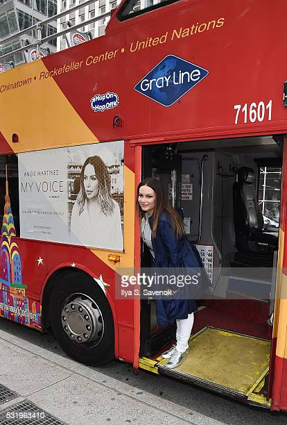 Angie Martinez Ride Of Fame ride with My Voice at Bryant Park on May 17 2016 in New York City