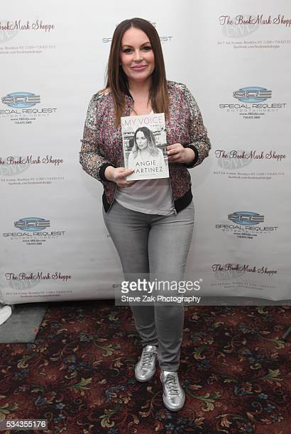 Angie Martinez signs copies of her new book 'My Voice' at Book Mark Shoppe on May 25 2016 in the Brooklyn borough of New York City
