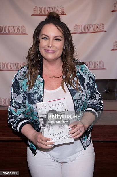 """Angie Martinez signs copies of her new book """"The Voice"""" at Bookends Bookstore on May 26, 2016 in Ridgewood, New Jersey."""