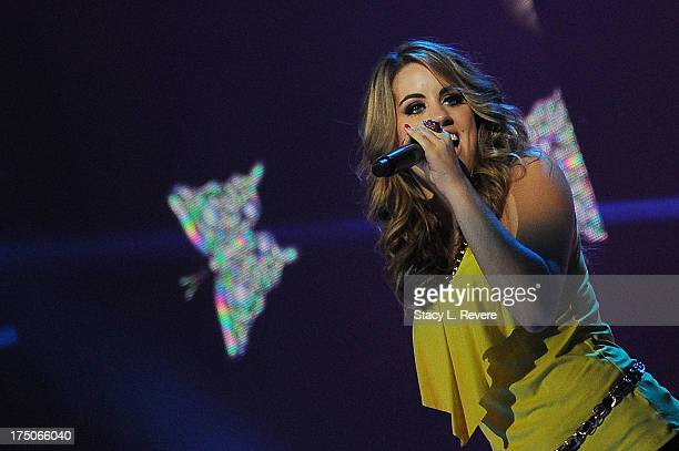 Angie Miller performs during American Idol Live at the UNO Lakefront Arena on July 30 2013 in New Orleans Louisiana