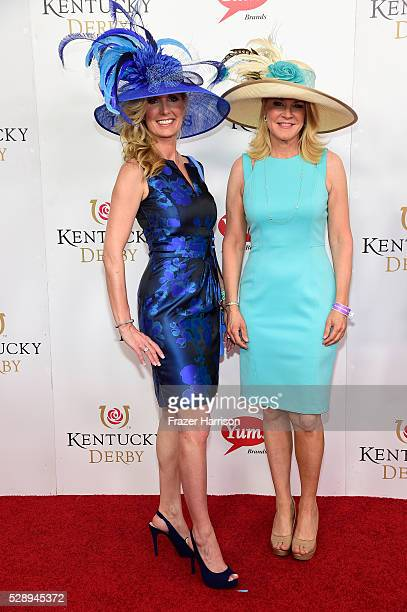 Angie Nenni of Delta Dental and Tonya York Dees of Unbridled Eve Gala attend the 142nd Kentucky Derby at Churchill Downs on May 07 2016 in Louisville...
