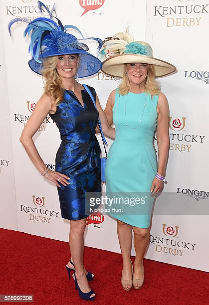 Angie Nenni of Delta Dental and Tonya York Dees of Unbridled Eve Gala arrive at the 142nd Kentucky Derby at Churchill Downs on May 7 2016 in...