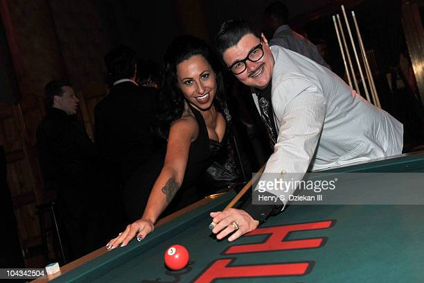 Angie Pontani and Murray Hill attend HBO's Bored To Death premiere at Capitale on September 21 2010 in New York City