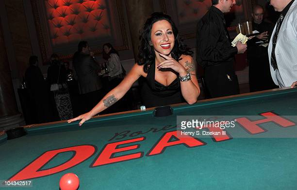 Angie Pontani attends HBO's Bored To Death premiere at Capitale on September 21 2010 in New York City