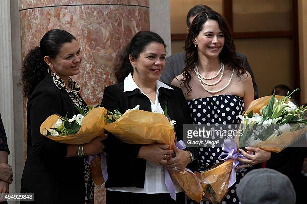 Angie Rosa Draco's sister Sonia Suarez Draco's mother and Angela Alvarado Draco's wife are seen as Draco Rosa is honored by Puerto Rico House of...