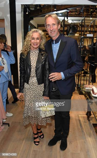 Angie Rutherford and Mike Rutherford attend the launch of The Shop At Bluebird Carriage Hall in Covent Garden on May 17 2018 in London England