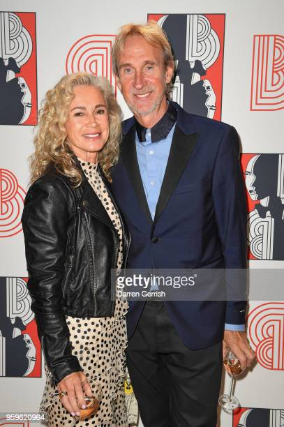 Angie Rutherford and Mike Rutherford attend the Shop at Bluebird Covent Garden launch party at The Carriage Hall on May 17 2018 in London England