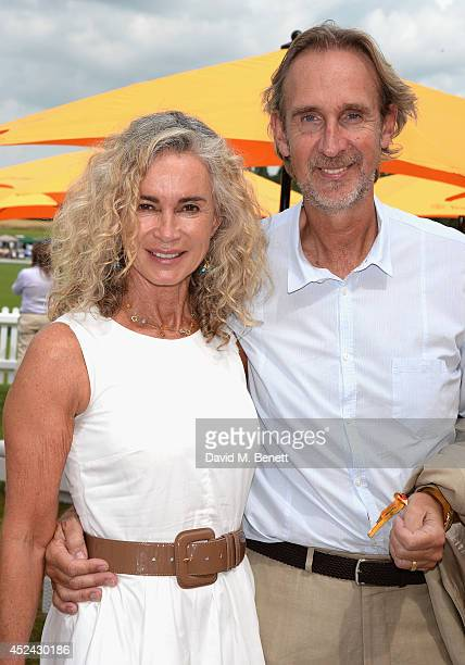Angie Rutherford and Mike Rutherford attend the Veuve Clicquot Gold Cup Final at Cowdray Park Polo Club on July 20 2014 in Midhurst England