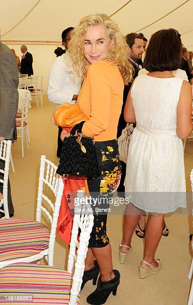 Angie Rutherford attends the Cartier Queen's Cup Polo Day 2012 at Guards Polo Club on June 17 2012 in Egham England