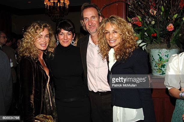Angie Rutherford Ghislaine Maxwell Mike Rutherford and Ann Dexter Jones attend THE GOOD LIFE a Novel by Jay McInerney Book Party hosted by Anne...