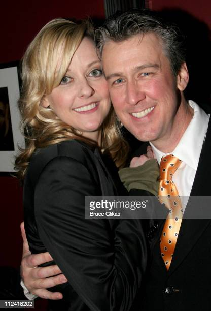 Angie Schworer and Alan Ruck during The Cast of 'The Producers' Welcome Richard Kind and Alan Ruck of 'Spin City' to Broadway at The St James Theater...