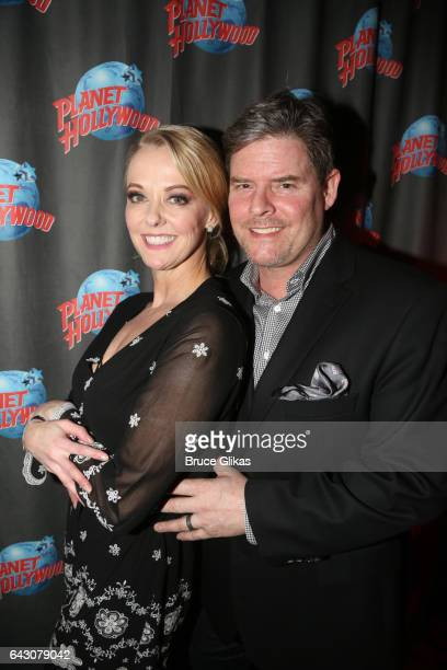 Angie Schworer and her husband Rich poses at the after party for Manhattan Concert Production's Broadway Series 'Crazy For You' One Night Only...