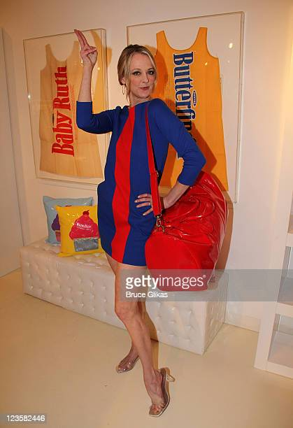 Angie Schworer attends the celebration of the launch of a new limited edition collection inspired by the musical 'Catch Me If You Can' at Lisa Perry...