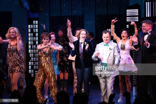Angie Schworer Beth Leavel Caitlin Kinnunen Brooks Ashmanskas Christopher Sieber during the Broadway Opening Night Curtain Call of 'The Prom' at The...