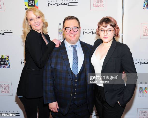 Angie Schworer Josh Lamon and Caitlin Kinnunen attends The 84th Annual Drama League Awards on May 18 2018 in New York City