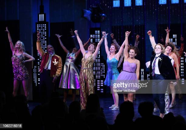 Angie Schworer Michael Potts Beth Leavel Isabelle McCalla and Caitlin Kinnunen during the Broadway Opening Night Curtain Call of 'The Prom' at The...