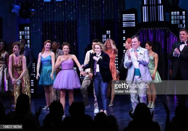 Angie Schworer Michael Potts Beth Leavel Isabelle McCalla Caitlin Kinnunen Brooks Ashmanskas and Christopher Sieber during the Broadway Opening Night...