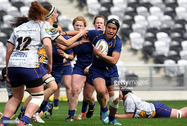 Angie Sisifa of Otago during the Women's Provincial Championship round two match between Otago and Bay of Plenty on September 19 2015 in Dunedin New...