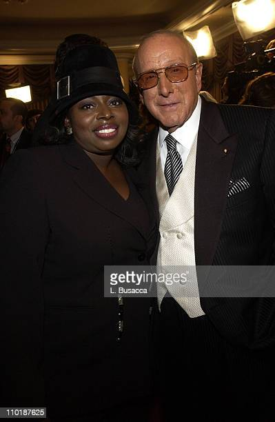 Angie Stone and Clive Davis during 2004 Clive Davis PreGrammy Party Inside Arrivals at Beverly Hills Hotel in Beverly Hills California United States
