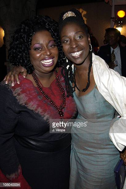 Angie Stone and Phyllis Yvonne Stickney during 34th NAACP Image Awards Zino Platinum Talent Lounge at Universal Amphitheatre in Universal City...