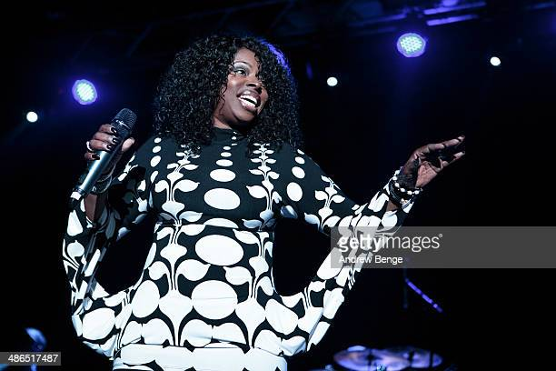 Angie Stone performs on stage at The Ritz Manchester on April 24 2014 in Manchester United Kingdom