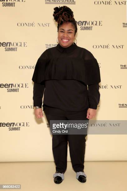Angie Thomas attends Teen Vogue Summit 2018: #TurnUp - Day 2 at The New School on June 2, 2018 in New York City.